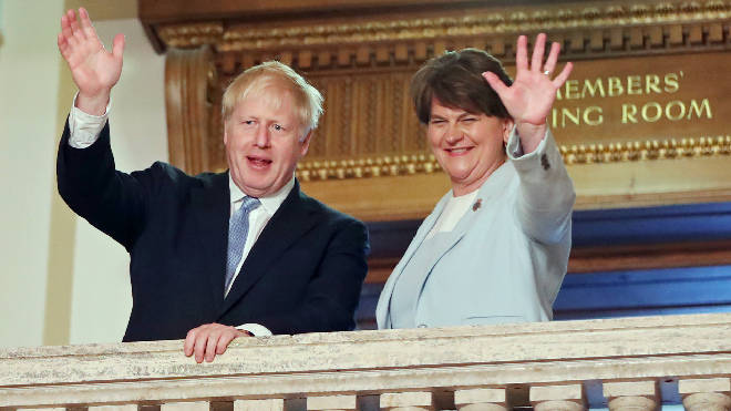 The Times says the DUP's agreed to shift its red lines on Brexit, saying it could accept Northern Ireland abiding by some European Union rules post-Brexit as part of a new deal to replace the Irish backstop. Arlene Foster has denied this.
