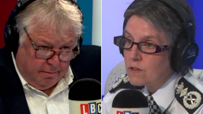 Met Police Commissioner Cressida Dick speaking to Nick Ferrari