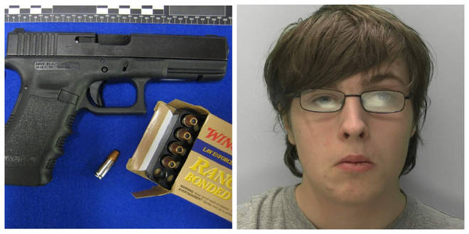 Kyle Davies, 19, has been jailed after trying to buy a gun on the darkweb