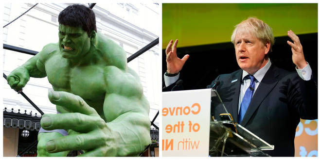 Boris Johnson likens the UK to The Hulk