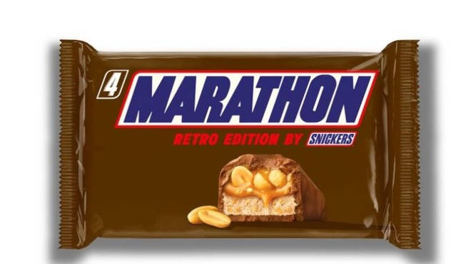 Snickers bars are to temporarily be rebranded back to Marathon