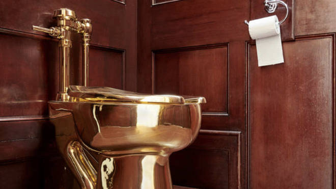 The toilet, said to be worth $5m to $6m was stolen.