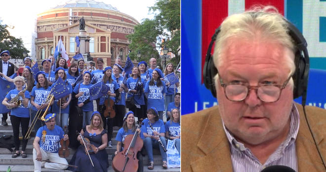 Nick Ferrari heard from a man behind this Brexit flag protest