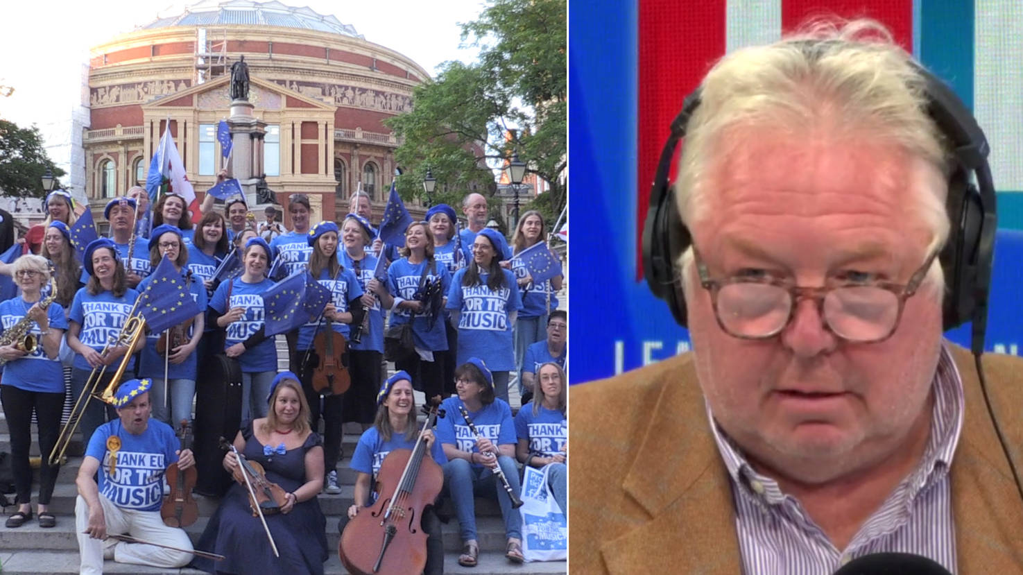 Man Who Handed Out EU Flags At Last Night Of The Proms Calls LBC To Defend Campaign