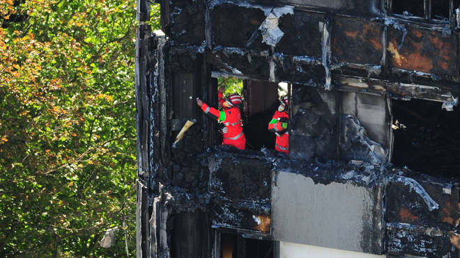 Hundreds of firefighters assisted in putting the flames of Grenfell out