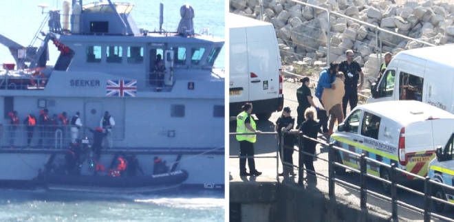 41 migrants have been intercepted trying to cross the channel
