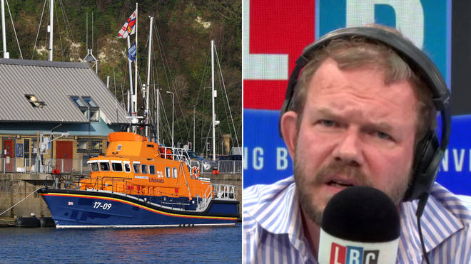 James O'Brien discussed the controversy over RNLI donations
