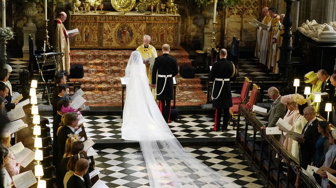 Prince Harry and Meghan Markle wed in the chapel at Windsor Castle