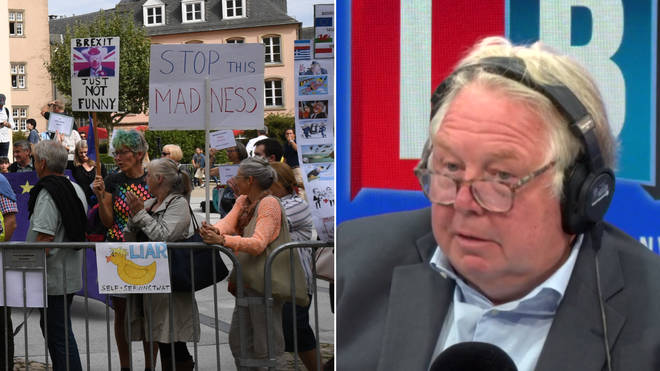Nick Ferrari spoke to one of the protesters from Luxembourg
