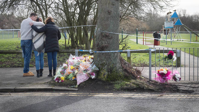 The scene on Harold Hill where Jodie was stabbed