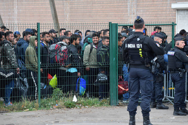 The migrant camp at Dunkirk was closed in the early hours of Tuesday morning