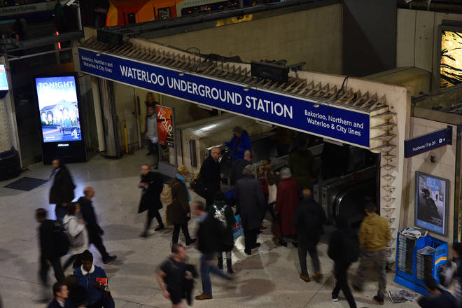 The man was working on the travelator at Waterloo station when he died