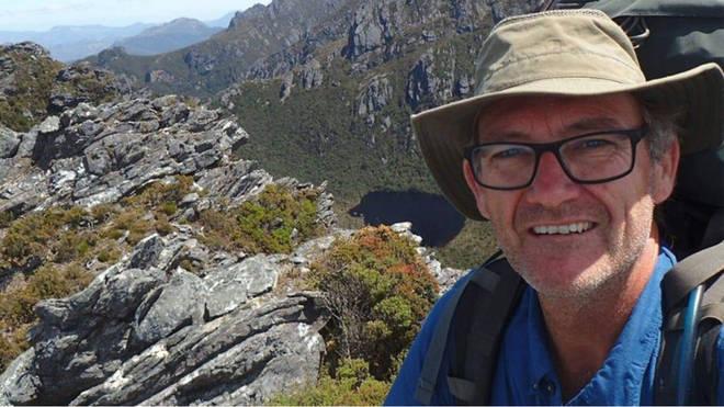 Neil Parker fell down a 20 foot waterfall when he was out bushwalking