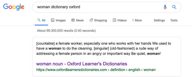 Search engines such as Google, Bing, and Yahoo license the use of Oxford Dictionaries for their definitions.