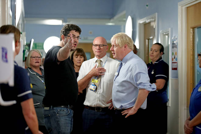 The father of a young girl, who is being treated in the Acorn childrens' ward, expresses his anger over hospital waiting times to Prime Minister Boris Johnson.