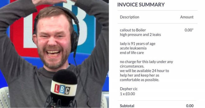 James O'Brien spoke to the UK's most generous plumber