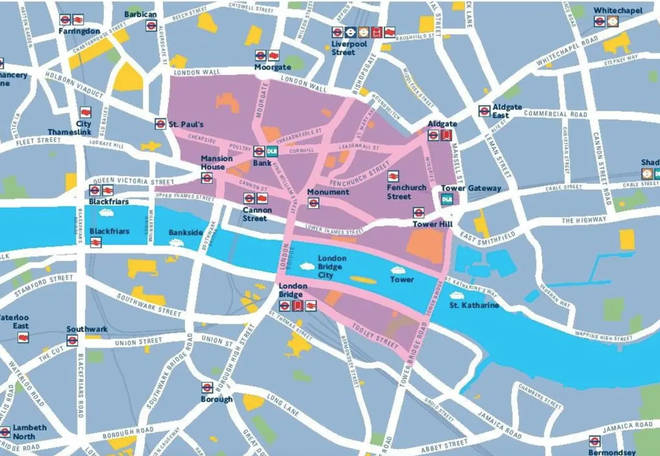 Areas in and around central London will be car free
