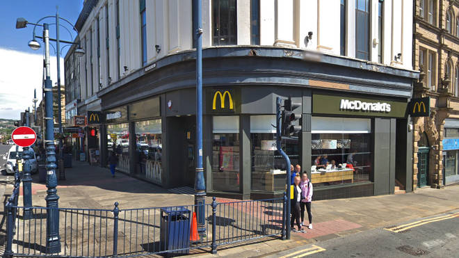 David Tyfa took his son James to the McDonald's branch in McDonald's