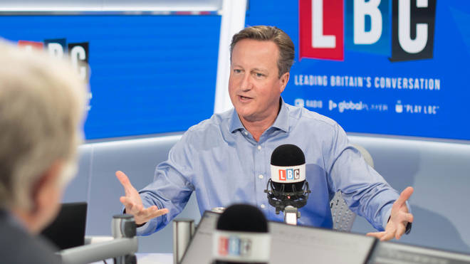 David Cameron in the LBC studio