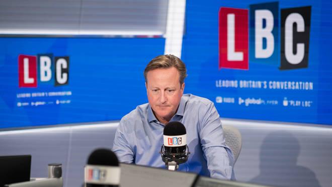 David Cameron was interviewed by Nick Ferrari on LBC