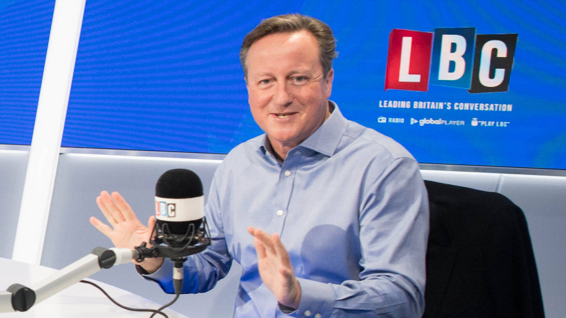 Nick Ferrari Asks David Cameron About The Infamous Pig's Head Story
