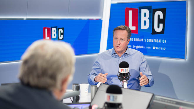 David Cameron speaking to Nick Ferrari on LBC