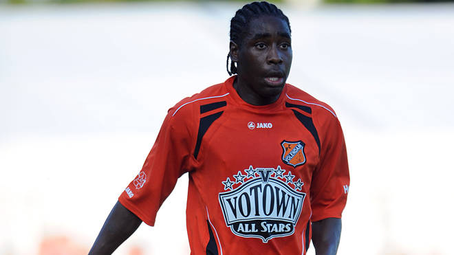 Kelvin Maynard, pictured here in action for FC Volendam, was shot dead in Amsterdam