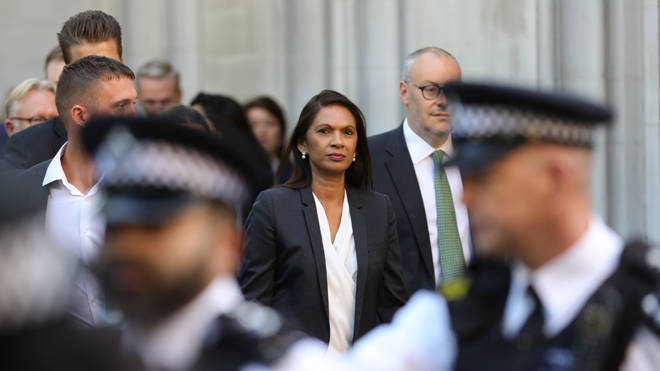 Anti-Brexit campaigner Gina Miller at the Supreme Court today