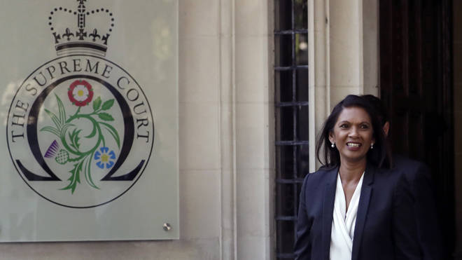 Gina Miller leaves the Supreme Court after the end of today's business