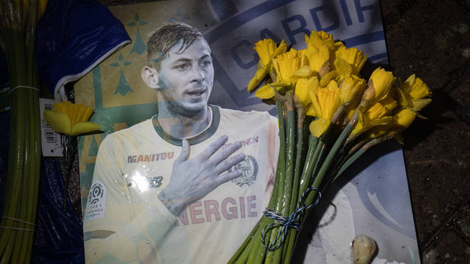 A tribute at Cardiff City Stadium for Emiliano Sala.