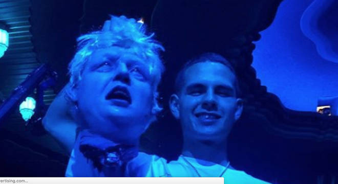 Slowthai brandished a fake Boris Johnson head at the ceremony