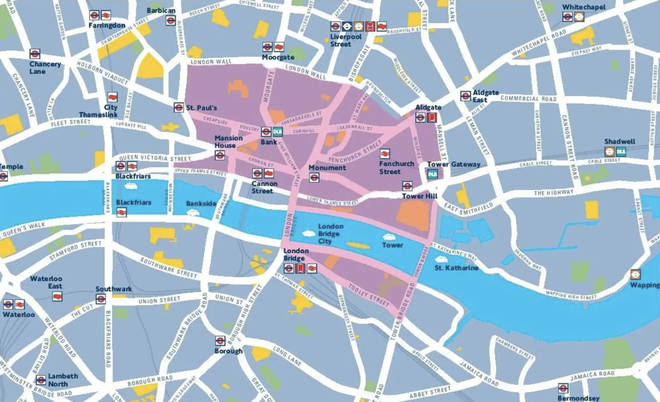 Transport for London highlights the areas that will be car free