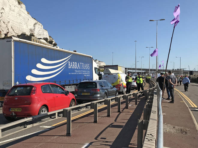 Holidaymakers experienced some disruption and tailbacks