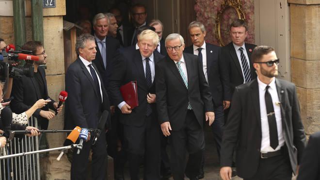 Jean-Claude Juncker and Boris Johnson met on 16 September