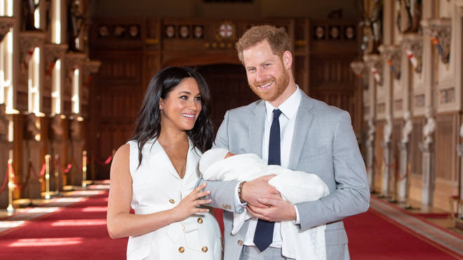 Meghan and Harry pictured a few days after Archie's birth