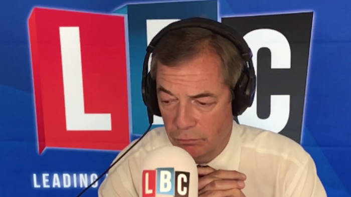 Jewish Caller Tells Nigel Farage About Community's Fears At Labour Party Conference