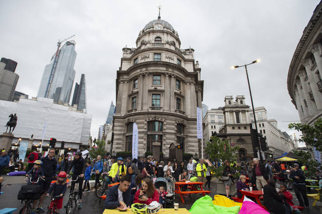 Bank junction was almost unrecognisable as it was turned into a festival space
