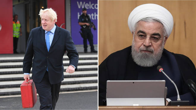 Mr Johnson is due to meet Iranian President Hassan Rouhani tomorrow