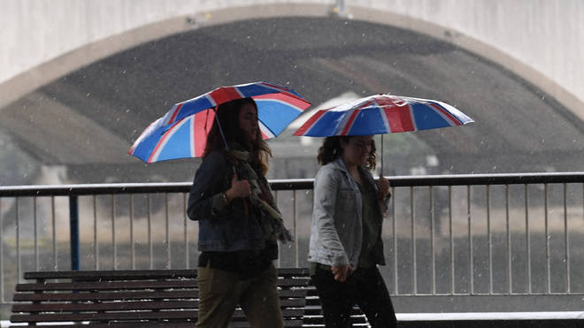 London and the south of England are expected to feel the worst effects on Tuesday