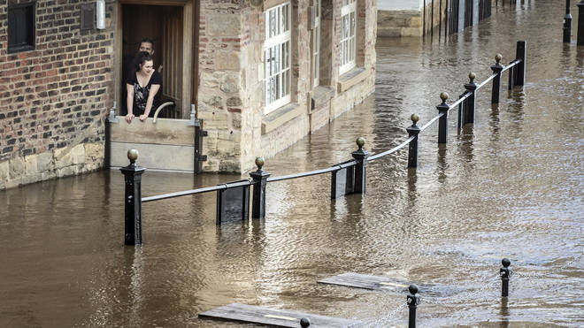 The Met Office warned that floods are expected in some parts of the country