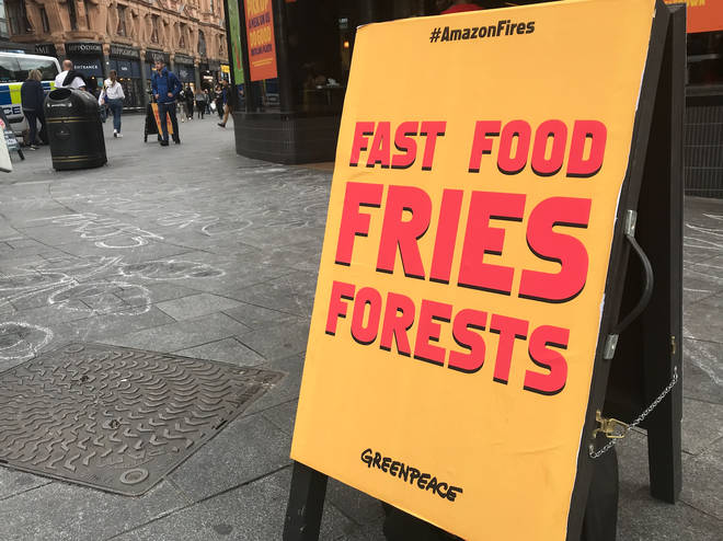 Burger King denies the accusations saying its beef was from British and Irish farmers