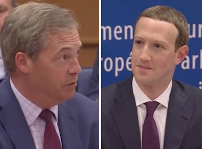Nigel Farage Mark Zuckerberg