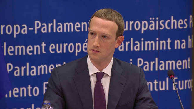 Mark Zuckerberg's look when Nigel Farage told him Trump wouldn't have happened without Facebook