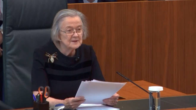 Lady Hale announced the government had been defeated in a unanimous decision