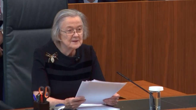 Lady Hale confirmed that Parliament had not been prorogued