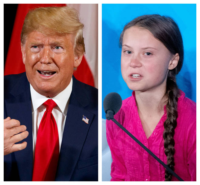 Donald Trump appeared to mock Greta Thunberg after her speech at the UN