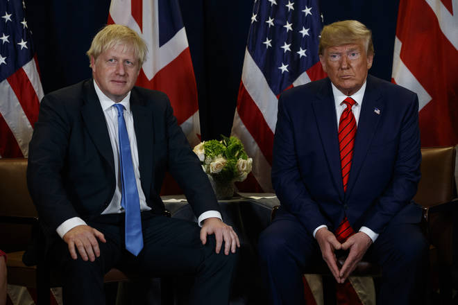 Donald Trump and Boris Johnson have been having talks in New York