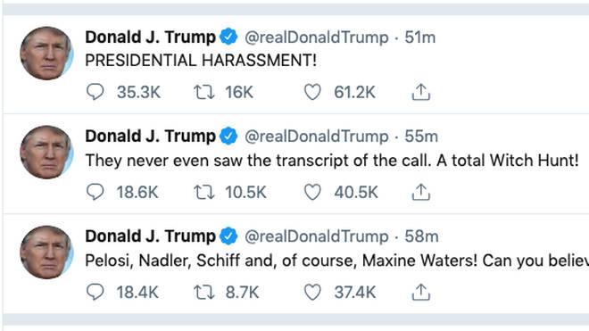 Donald Trump went into meltdown on Twitter