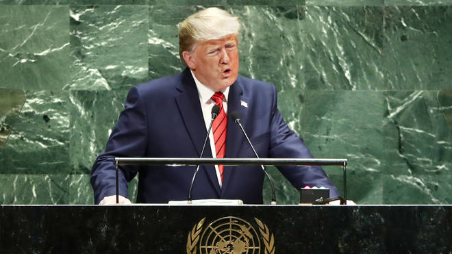 Trump has been in New York for a UN Summit