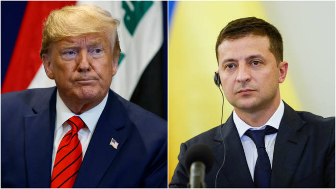 Trump encouraged the Ukrainian President to investigate a Democratic candidate